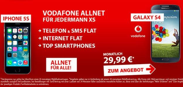 Vodafone RED XS mit Smartphones