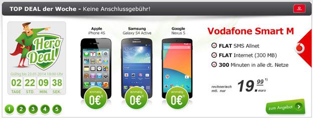 Vodafone Smart M mit LG Google Nexus 5