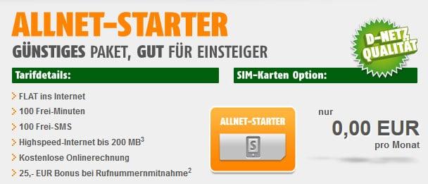 Klarmobil AllNet-Starter - 4 Monate gratis