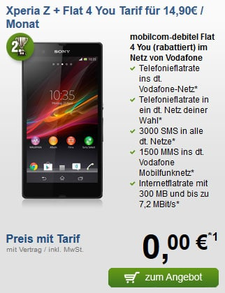 Sony Xperia Z - Flat 4 You Vodafone