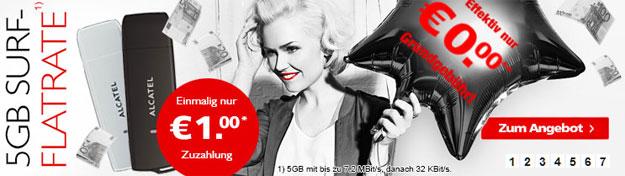 Vodafone Datentarif 5 GB - 480 EUR Auszahlung