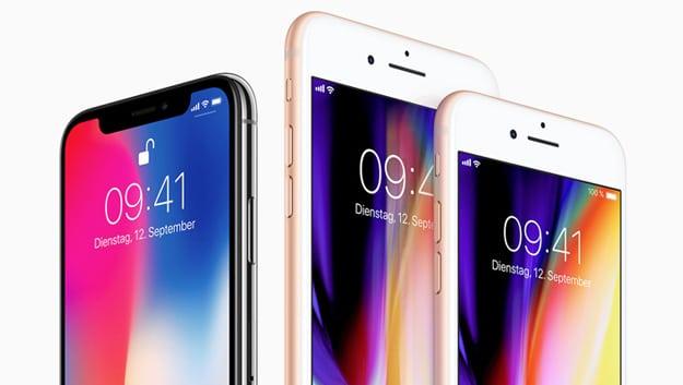 Apple iPhone 8. 8 Plus und X