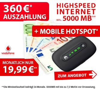 Vodafone Datenflat mit Surfstick von Huawei