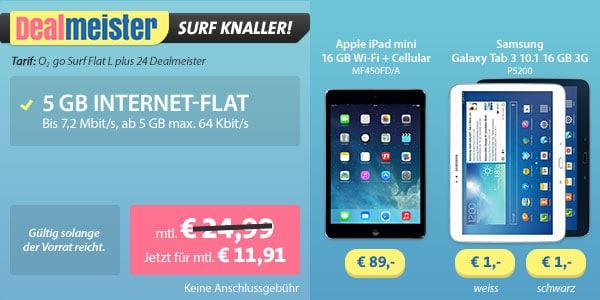 o2 Datenflat kostenlos - iPad Mini