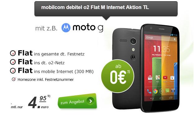 o2 Flat M Internet mit Moto G