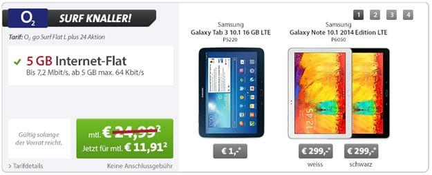 o2 go Surf Flat L - Galaxy Tab 3