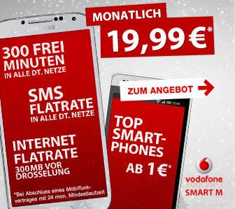 Der Vodafone Smart M bei Preisboerse24 und vielen anderen Shops sehr günstig ab eff. 1,41 € mtl.