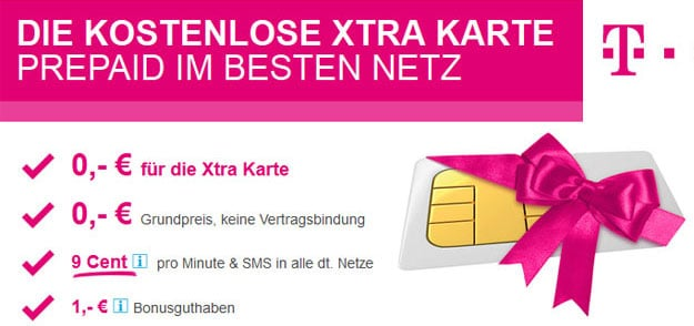 Xtra-Karte von Telekom