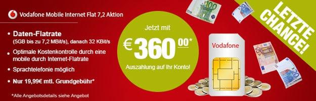 5 GB Datenflat 360 EUR