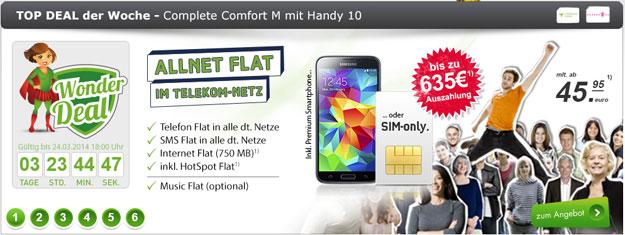 Complete Comfort M md mit 635 EUR Auszahlung