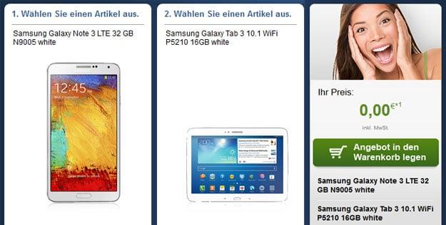 Samsung Galaxy Note3 + Galaxy Tab3