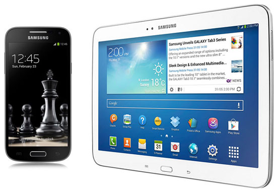 Samsung Galaxy S4 Black Edition + Galaxy Tab 3