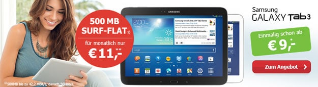 BASE Internet 11 mit Samsung Galaxy Tab 3
