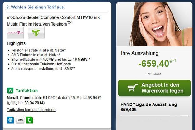 Telekom Complete Comfort M (md) mit 659 € Auszahlung