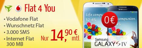 Flat 4 You bei Eteleon mit dem Samsung Galaxy S4 für 0 €