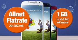 Samsung Galaxy S4 mit bis zu 40 € Weiterempfehlungsprämie zum o2 Blue All-in S