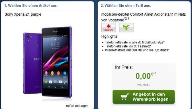 Vodafone Allnet Comfort von mobilcom-debitel mit Top-Smartphone