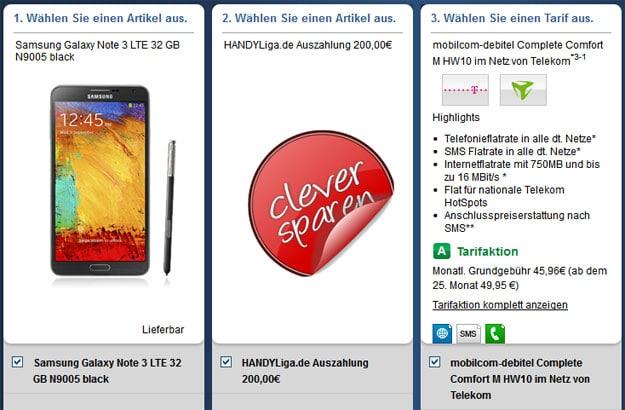 Telekom Complete Comfort M von mobilcom-debitel mit Auszahlung
