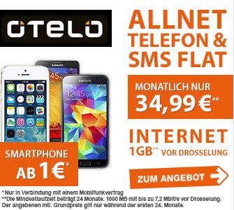 Otelo Allnet Flat XL mit Smartphones