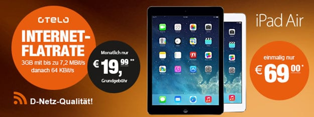 Otelo Internet Flat mit iPad Air 16GB