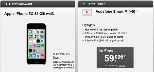 Vodafone Smart M mit iPhone 5c 32GB