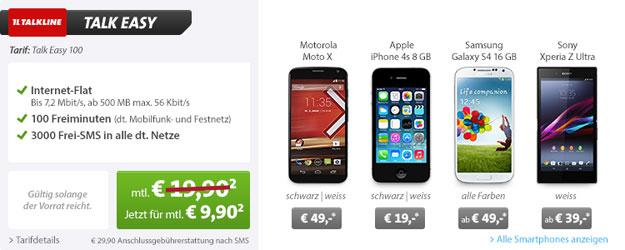 Talk Easy 100 mit bis zu 66 € Gewinn + Top-Smartphone