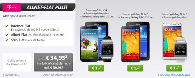 Telekom Special Allnet mit Samsung Galaxy Bundles