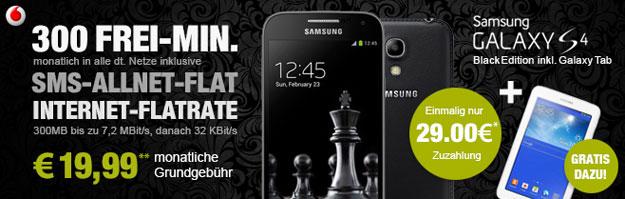Vodafone Smart M u.a. mit Samsung Galaxy S4 Black Edition und Samsung Galaxy Tab 3 (7.0)