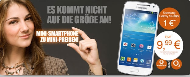 Vodafone Smart S mit Samsung Galaxy S4 Mini