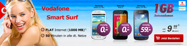 Vodafone Smart Surf bei Handytick
