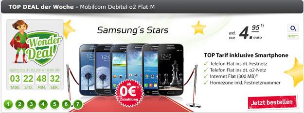 o2 Flat M Internet im Wonder Deal mit Samsung-Handys