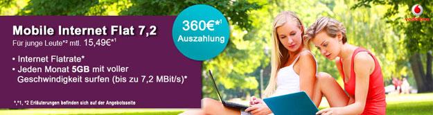 5 GB Datenflat für Junge Leute - 360 EUR Auszahlung