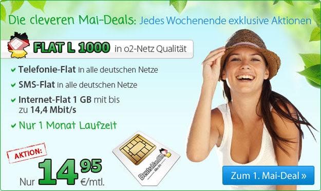 DeutschlandSIM Flat L 14,95 EUR