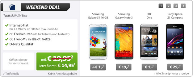 MoWoTel Easy bei Sparhandy - Weekend Deal