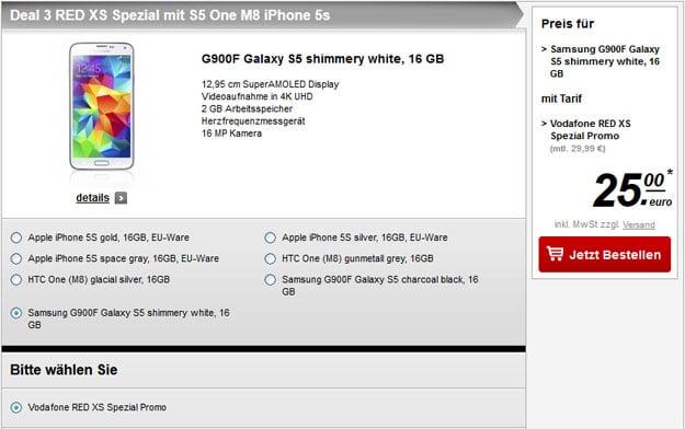 Vodafone Red XS - Galaxy S5
