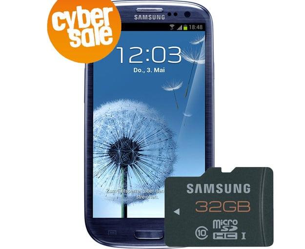 Samsung Galaxy S3 + 32GB MicroSD-Karte im Cybersale