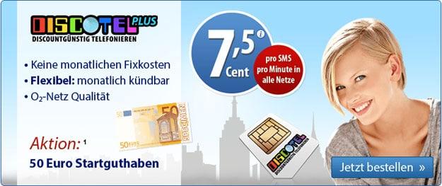DiscoTel Plus mit 50 € Startguthaben