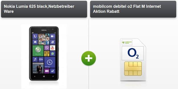 Nokia Lumia 625 mit o2 Flat M Internet