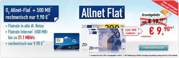 o2 Talk Allnet Comfort für 9,90 EUR