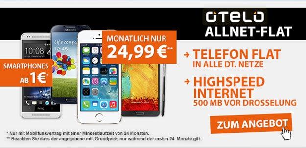 Otelo Allnet-Flat M mit iPhone 5s u.a.