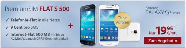 PremiumSIM mit Samsung Galaxy S4 (Mini)