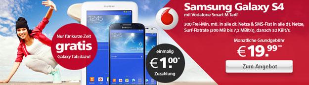 Vodafone Smart M mit Samsung Galaxy S4 und Galaxy Tab 3 (7.0)