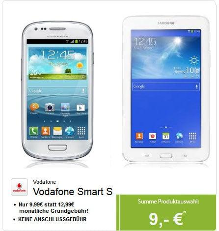 Vodafone Smart S mit Samsung Galaxy S3 Mini und Galaxy Tab 3 (7.0)