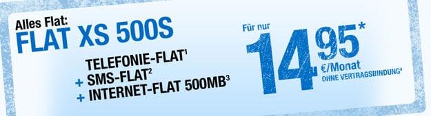 Smartmobil Flat XS 500S für 14,95 € mtl.