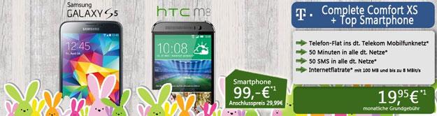 Telekom Complete Comfort XS mit unterschiedlichen Smartphones