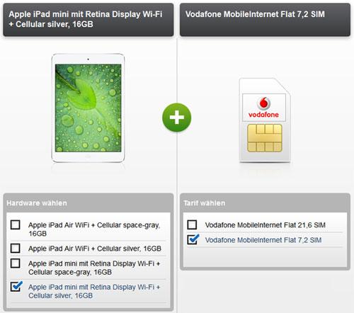 iPad Air oder Mini 2 mit Vodafone MobileInternet
