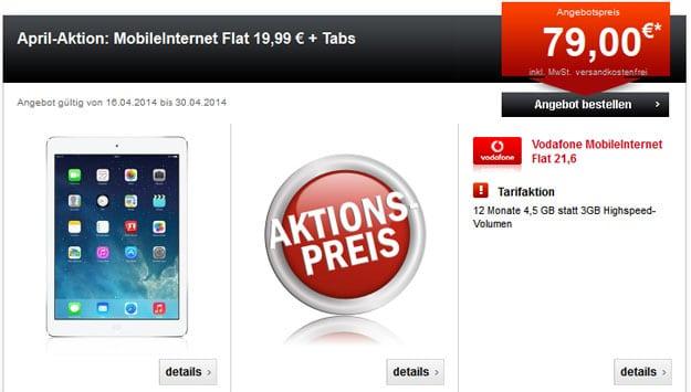 Vodafone MobileInternet mit Tablets oder 360 € Auszahlung