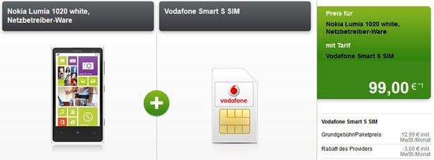 Vodafone Smart S mit u.a. Nokia Lumia 1020, Samsung Galaxy S4