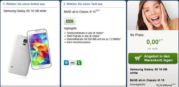 BASE all-in classic mit u.a. Samsung Galaxy S5