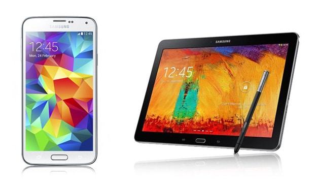 Telekom Complete Comfort M mit Samsung Galaxy S5 und Galaxy Note (10.1) 2014 Edition